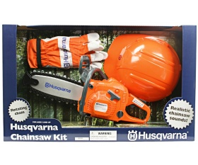 Zabawka pilarka łańcuchowa Husqvarna 440 z kaskiem i rękawicami ochronnymi 586498201 5864982-01 586 49 82-01