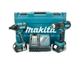 Makita DLX2006M zestaw narzędzi akumulatorowych DDF459 DTD129 Li 18V 4Ah