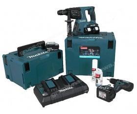 Makita DLX2100PMJ zestaw narzędzi akumulatorowych DDF459 DHR264 Li 18V 4Ah