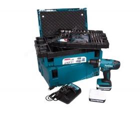 Makita DF347DWJX4 akumulatorowa wiertarko-wkrętarka Li 14,4V 1,3Ah + 66 sztuk osprzętu MAKPACK